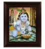 Multicolour Gold Plated Taval Krishna Framed Tanjore Painting by MyAngadi