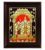 Multicolour Gold Plated Vishnu Andal Framed Tanjore Painting by MyAngadi