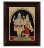 Multicolour Gold Plated Vishnu Lakshmi Framed Tanjore Painting by MyAngadi