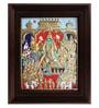 Multicolour Gold Plated Vishnu Thirumagal Framed Tanjore Painting by MyAngadi