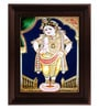 Myangadi Multicolour Gold Plated Vittoba Krishna Plywood & Cloth Framed Tanjore Painting