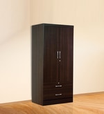 Nariko Two Door Wardrobe with Two Drawers in Wenge Finish