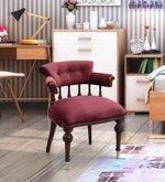 Nayila Chair in Maroon Upholstery