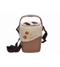 Nayasa Zeta Brown Stainless Steel Lunch Box - Set Of 4