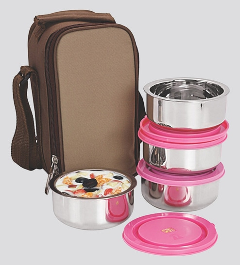 Buy Nano 9 Insulated Pink and Silver Stainless Steel 1 L Junior