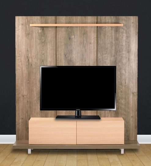 Buy Natsumi Entertainment Wall Unit in Oak and Maple Finish by ...