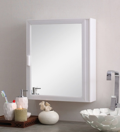 White 6 Compartment Bathroom Cabinet