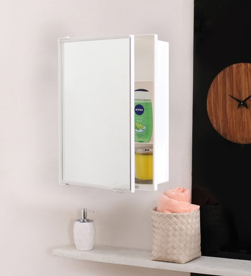White Plastic Neo Cabinet By Navrang