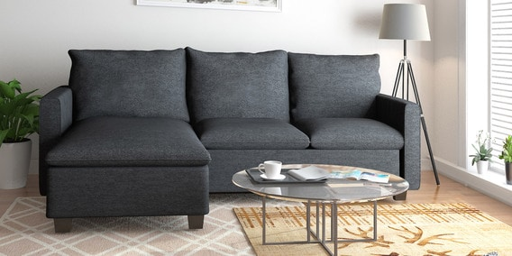 Napster Reversible Lounger Sofa in Grey Color by @home