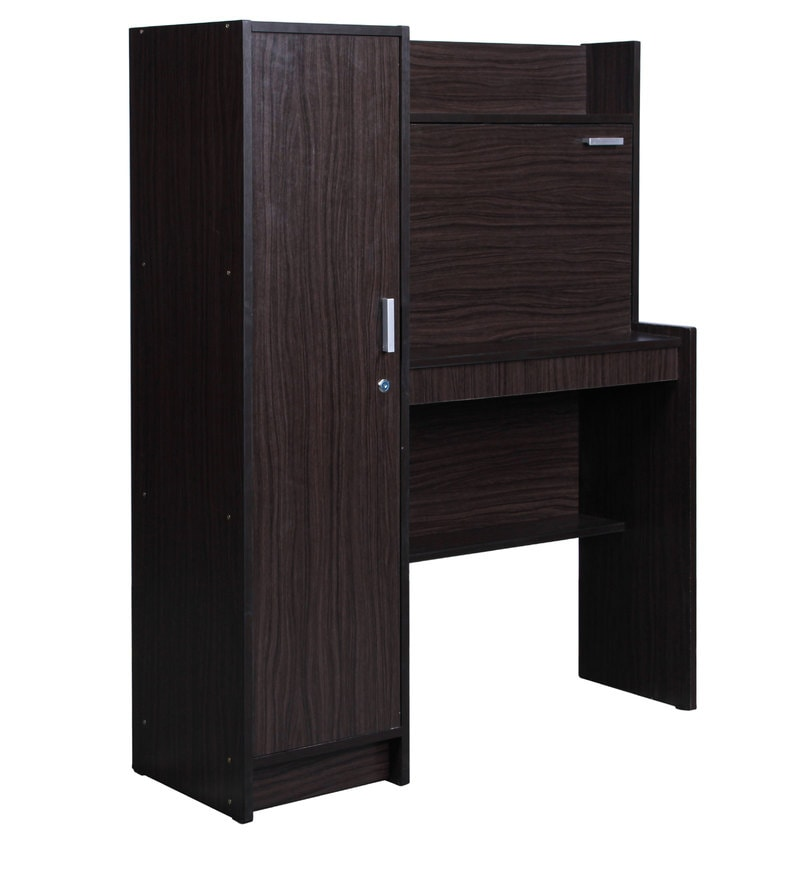 Buy Nakamura Study Table With Cabinet In Wenge Finish By