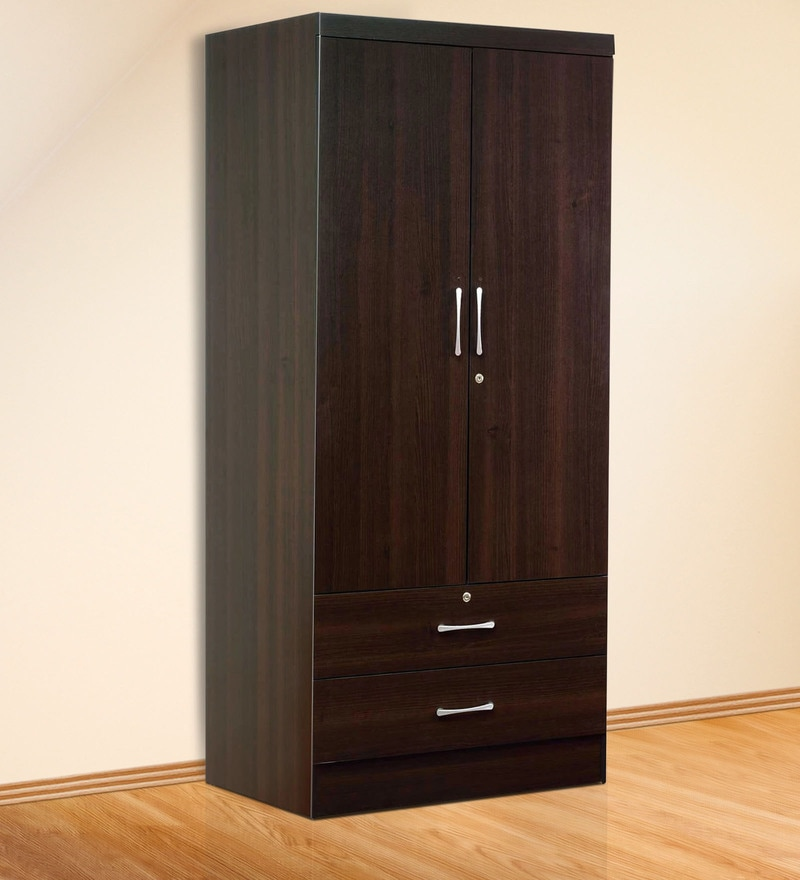Nariko Two Door Wardrobe in Wenge Finish by Mintwud