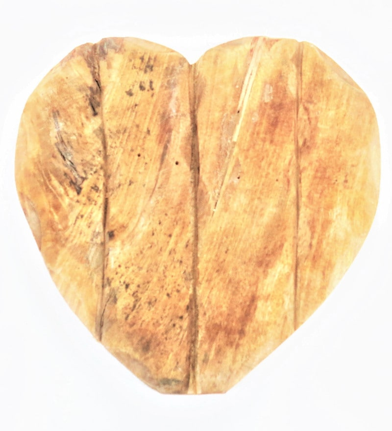 Buy Natural Mango Wood Heart Plank Wall Hanging by Forms Online ...