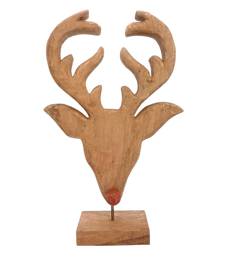Natural Mango Wood Moose Mask by Forms