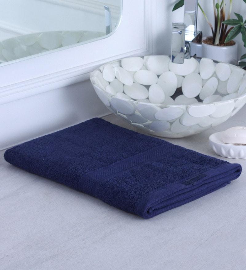 Navy Blue 100% Cotton Bath Towel by Raymond Home