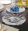 Nachtmann Pebbles Round Glass Salad Tray Set
