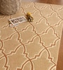 Beige Wool 91 x 63 Inch Abstract Pattern Area Rug by The Rug Republic