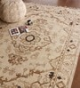 Brown Wool 91 X 63 Inch Abstract Pattern Carpet by The Rug Republic