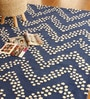 Blue Wool 91 x 63 Inch Geometric Pattern Area Rug by The Rug Republic