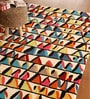 Multicolour Wool 91 x 63 Inch Geometric Pattern Area Rug by The Rug Republic