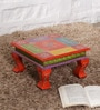NB Home Interior Industry Multicolour Mango Wood Bajot Sitting Stand