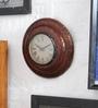 NB Home Interior  Multicolour MDF 16 x 4 x 16 Inch Wall Clock