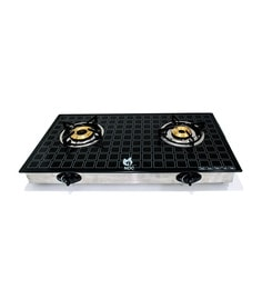 NDC 2B-01 Double Burners Toughened Glass Cooktop