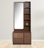 Nebula Dresser with Mirror in Coffee Brown Colour
