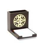 Cocktail Brown Wooden Circle Pen Stand