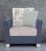 New Windsor One Seater Sofa in Blue Colour