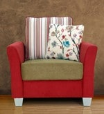 New Windsor One Seater Sofa in Red Colour
