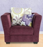 New York Chic One Seater Sofa in Wine Colour