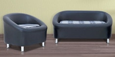 Nelson Sofa Set (2 + 1) Seater in Black Colour