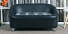Nelson Two Seater Sofa in Black Colour
