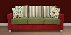 New Windsor Three Seater Sofa in Red Colour