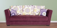 New York Chic Three Seater Sofa in Wine Colour