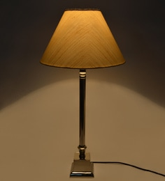 Lamp shades buy table lamp shades online in india pepperfry off white cotton stiffner lamp shade mozeypictures Image collections