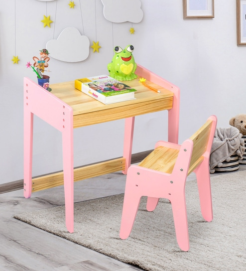 4e72dda04 Buy Neo Study Table   Chair Set in Pink by Alex Daisy Online - Kids Table    Chair Sets - Kids Table   Chair Sets - Kids Furniture - Pepperfry Product