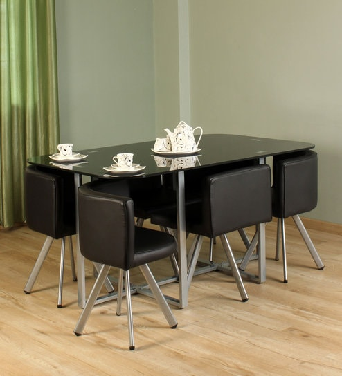 best website d4b20 37819 Neon 6 Seater Dining set in Black Colour by Durian
