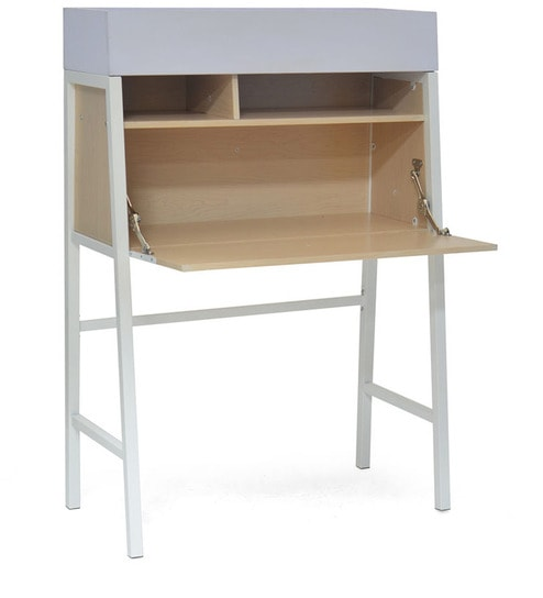 Neon Study Table In White Colour