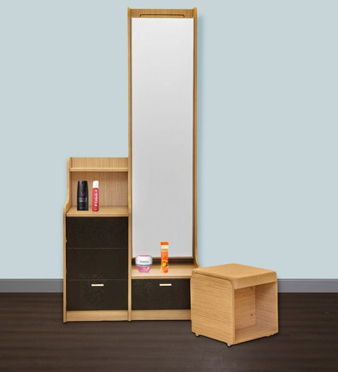 New Florid Pro Premium Dressing Table In Oak Finish By Godrej Interio