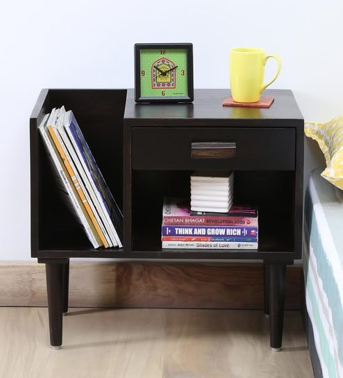 book coffee table furniture. Nexo Solid Wood Bed Side Table With Book Shelf On Right In Warm Chestnut Finish By Coffee Furniture R