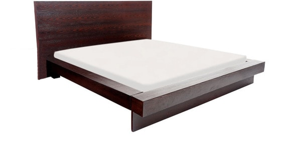Buy New Design Low Fendi King Size Bed Without Storage In Brown
