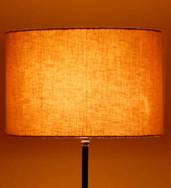 New Era Grey Cotton Round Lamp Shade, Round Lamp Shades Table Lamps