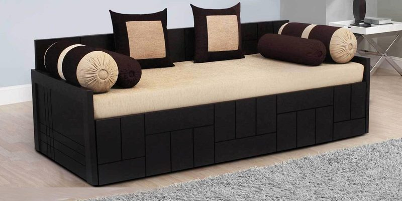 Buy Nelson Sofa Cum Bed with 2 Cushions & 4 Bolsters in