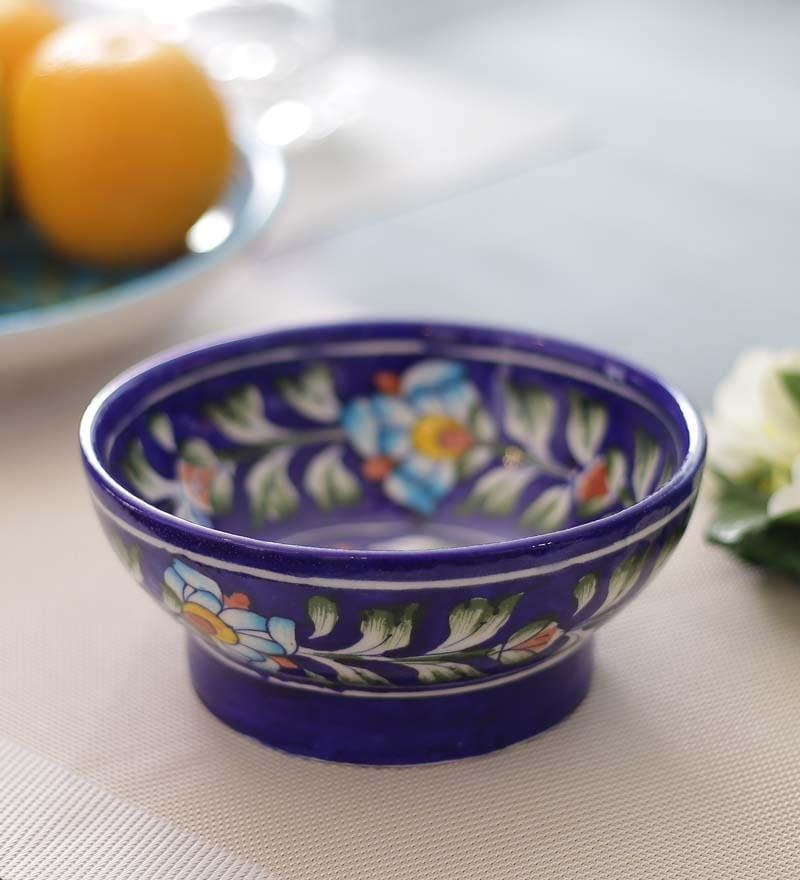 Blue Ceramic Pottery Bowl by Neerja