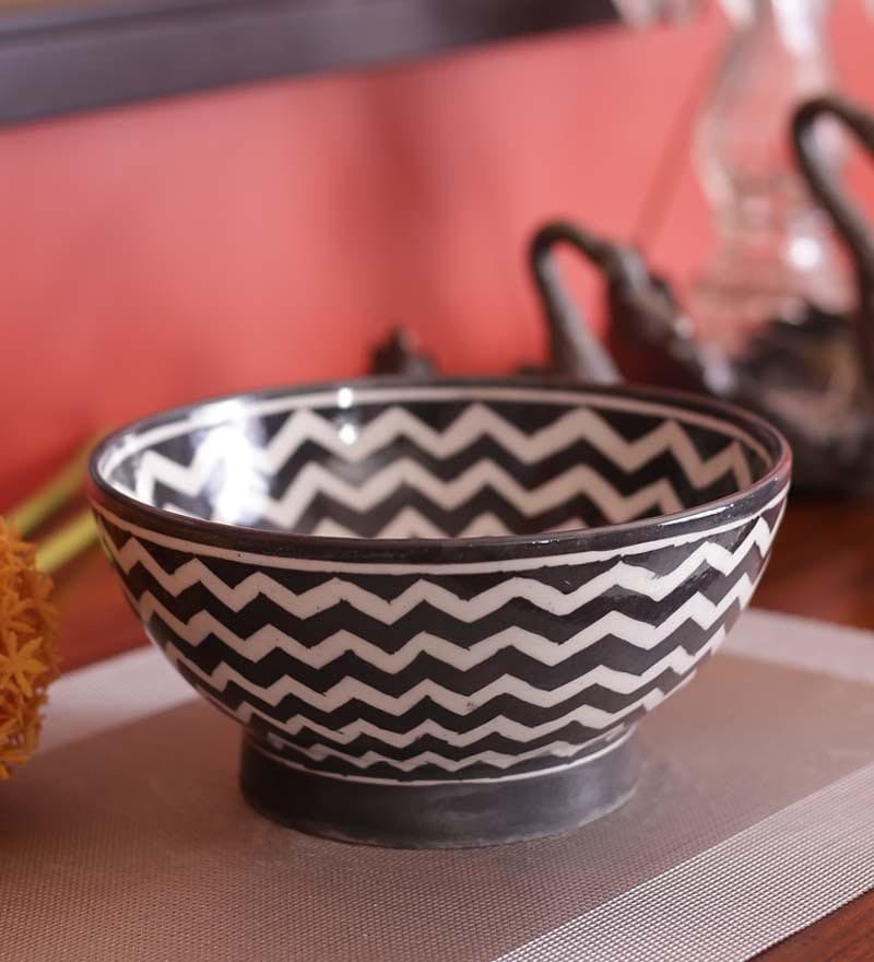 Blue & White Ceramic Pottery Traditional Bowl by Neerja