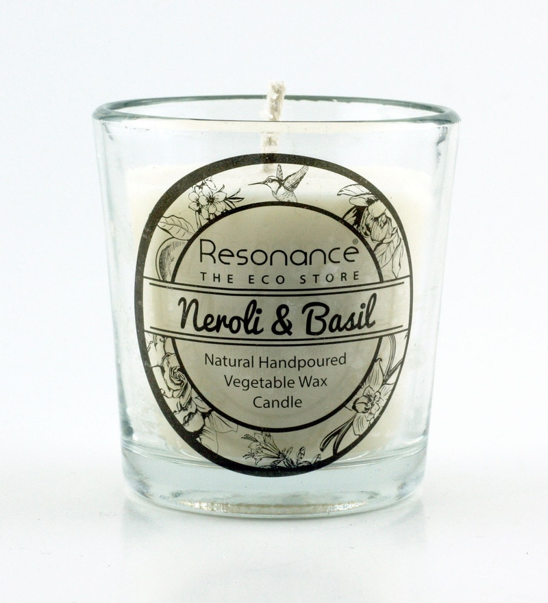 Neroli & Basil Fragrance Natural Wax Aroma Votive Scented Candle by Resonance