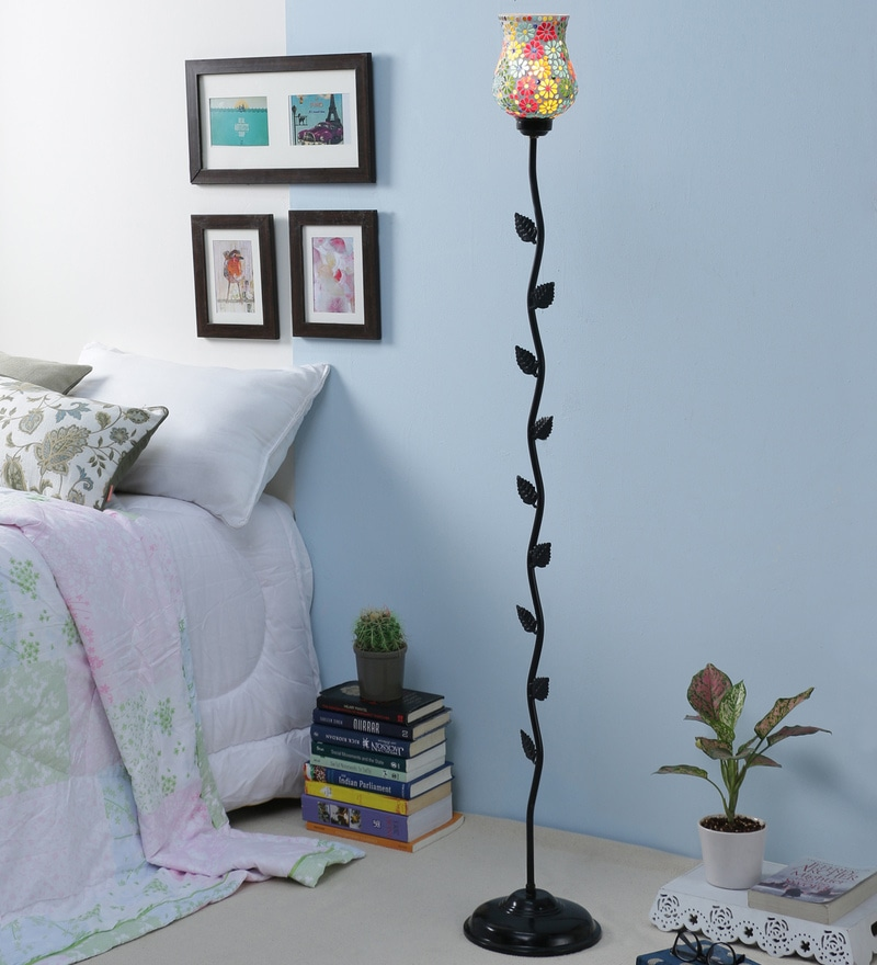 Multicolor Glass Leaf Floor Lamp by New Era