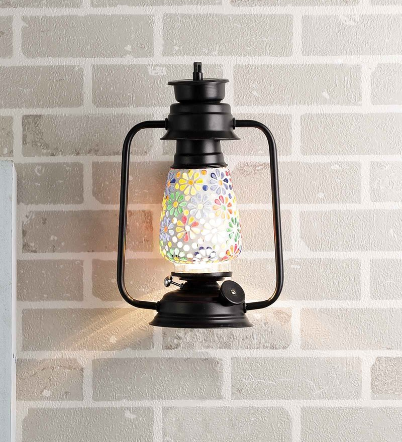 Multicolour Glass Wall Light by New Era
