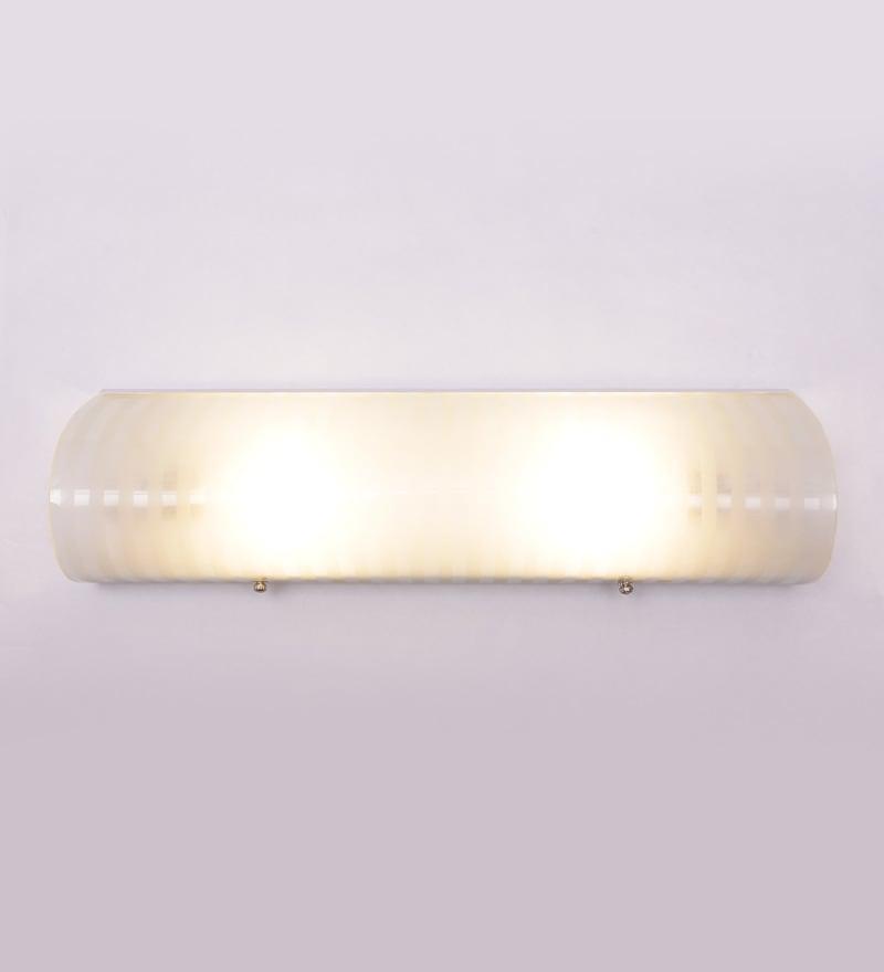 Ribbed Pattern Single-shade 2-way Bathroom Light by New Era
